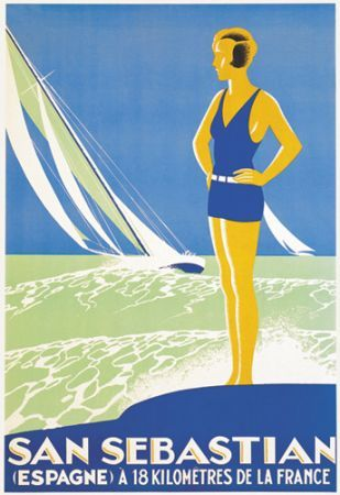 San Sebastian, Spain, 70098 , Vintage Poster Market : Online Art deco Posters & art illustrations, old reproduction