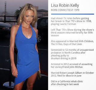 Chatter Busy: Lisa Robin Kelly Died Of Drug Intoxication While In Rehab