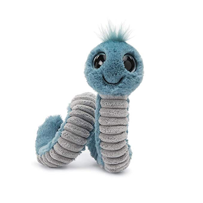 Blue 12 inches Jellycat Wiggly Worm Stuffed Animal