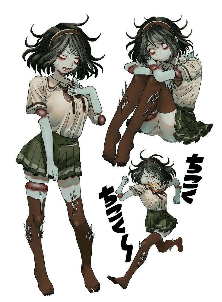 Anime Monster Girls Zombie Girl Character Art Horror Characters