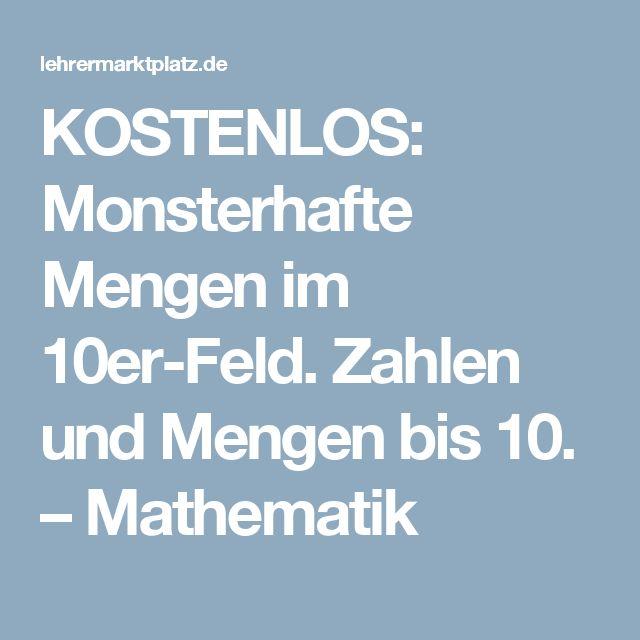 KOSTENLOS: Monsterhafte Mengen im 10er-Feld. Zahlen und Mengen bis 10. – Mathematik