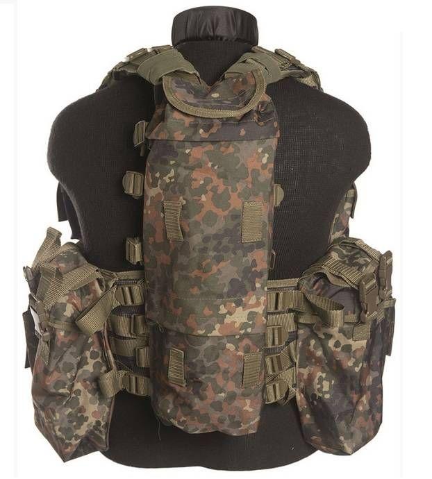 Mil-Tec Einsatzweste Tactical, 12-Taschen, flecktarn / mehr Infos auf: www.Guntia-Militaria-Shop.de