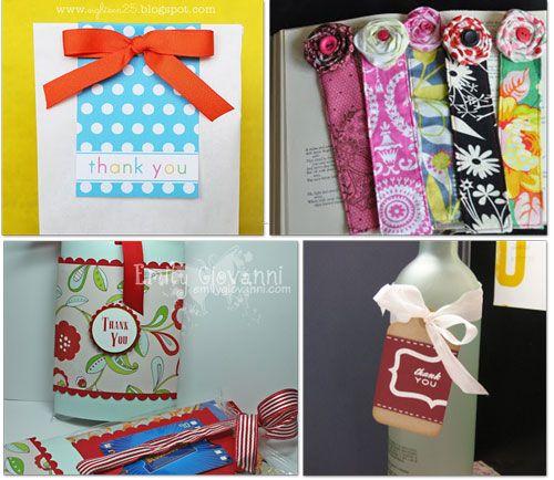 14 Creative Ways to Say Thank You -- I especially like the handmade bookmarks!