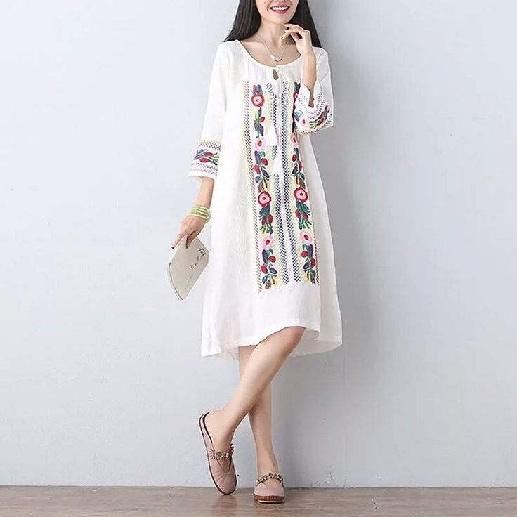 Three quarter sleeves o-neck embroidered dress.  DM TO ORDER.  #women #moda #style #beauty #hairstyle #dresses #colorful #womensfashion #hairs #blogger #artshub #nice #tutoriais #makeup #videotutorial #clothes #outfit #shoes #dress #instadress #dressmurah #wedding #weddingdress #fashion #dressup #dressoftheday #dressaddict #bridal #bridalmakeup #beautifulinstagram