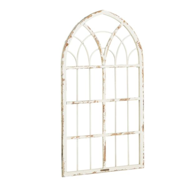 Joanna loves to use antique window frames to introduce character to a space. Our Metal Cathedral Petite Window Frame in Distressed White exudes style wherever y
