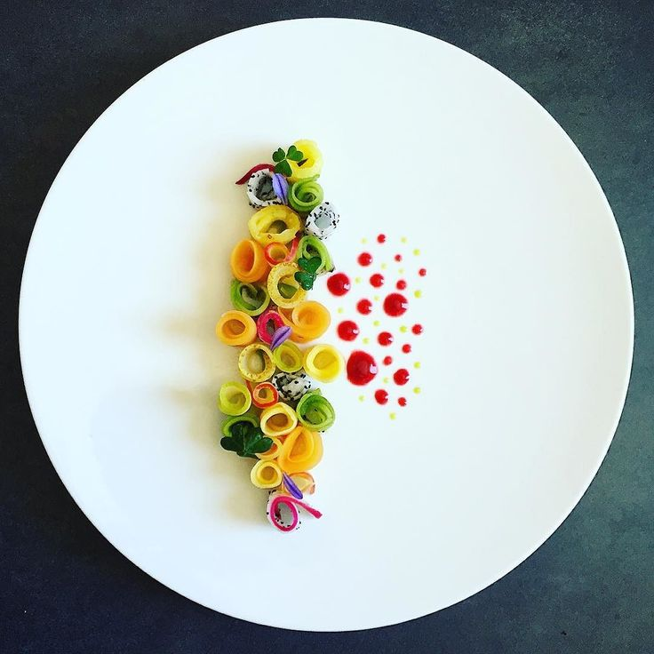 Fruits salad basil Sichuan pepper by cuisinaddicte