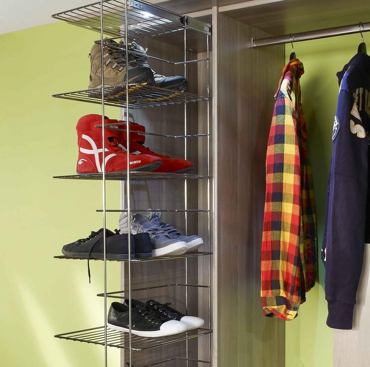 am nagement espace porte chaussures dressings am nagements pinterest. Black Bedroom Furniture Sets. Home Design Ideas