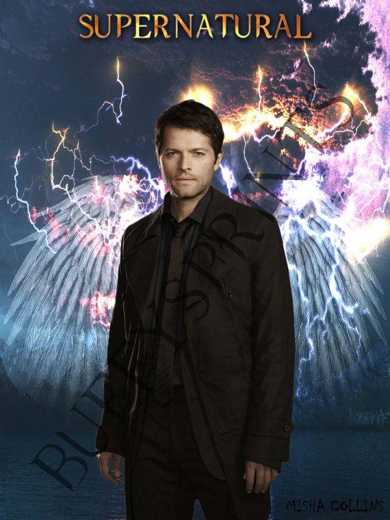 Supernatural Posters Castiel | Supernatural Poster- Misha Collins as Castiel