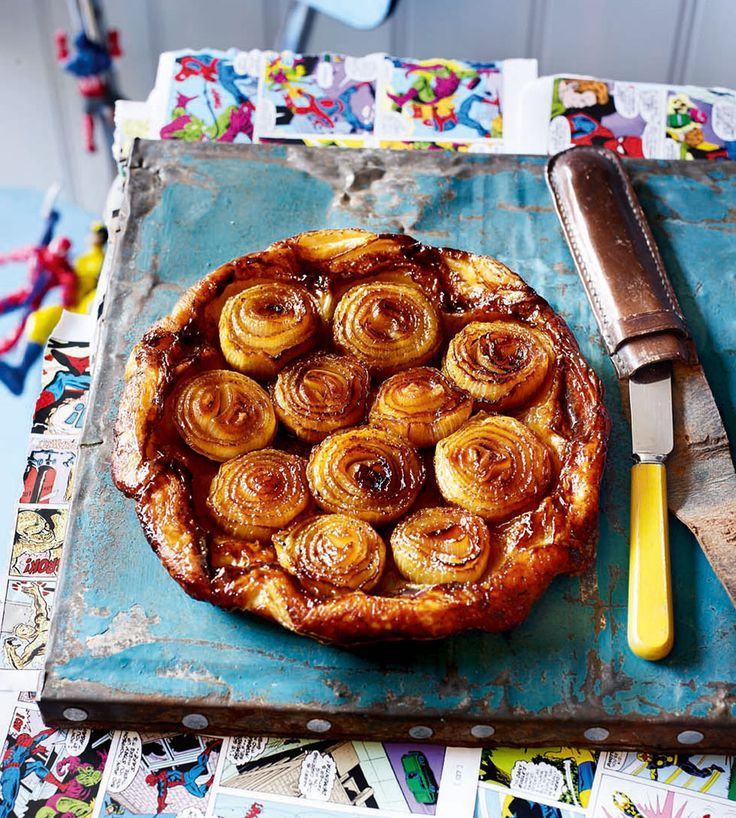 Make onions stand out with this simple, tasty but impressive tart – the onions are cooked for a long time so they're tender and sweet