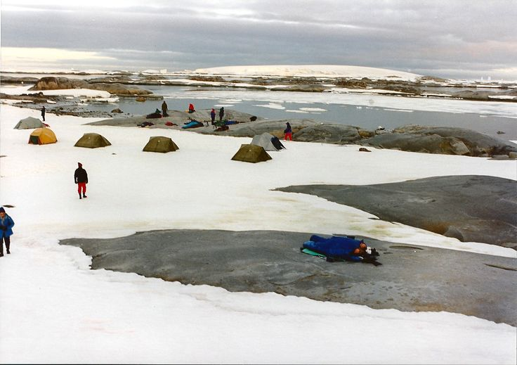 camping on the ice