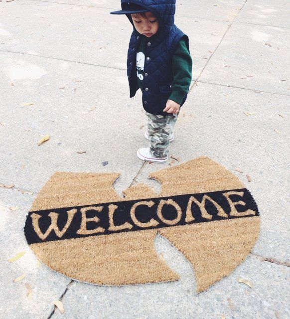 Wu Tang Door Mat. Inspired by Influence. Please allow 3 weeks for shipping.