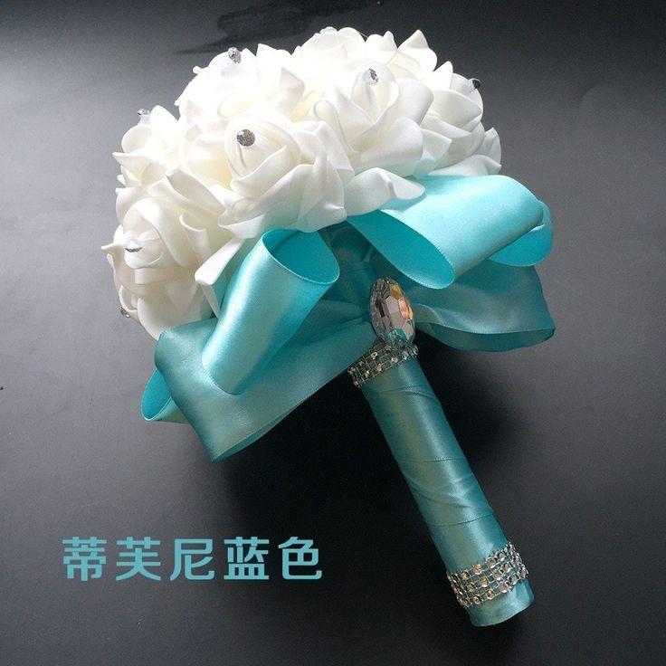 Weiße PE Rose Brautjungfer Hochzeit Schaum Blumen Rose Bouquet B … – Vita PE Rose B …   – Wedding Accessories