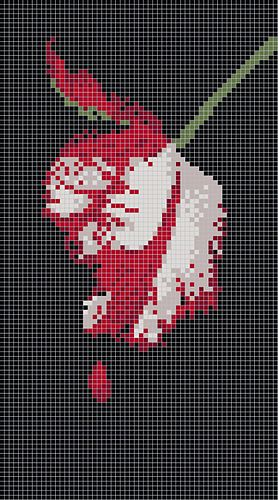 This PDF contains charts for all 4 Twilight Saga book covers - Twilight, New Moon, Eclipse and Breaking Dawn. Each chart is 60 stitches wide and uses 5 colors (New Moon uses 6). Use them for duplicate stitch, intarsia, crochet-by-numbers, cross stitch, or anything else you can come up with!