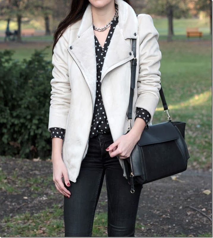 Suede and fur coat
