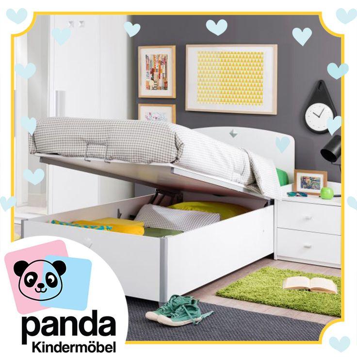Das Cilek Active Jugendbett mit Bettkasten für eine einfache Aufbewahrungsmöglichkeit für Kissen und Decken.https://pandakindermoebel.ch/shop/active-bett-mit-stauraum-90x190cm-2004170501/