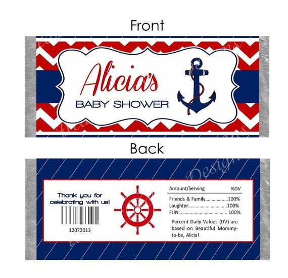 Nautical Candy Bar Wrapper by DesignsofHeather on Etsy