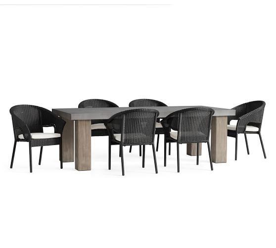 Best Abbott Gray Chunky Leg Table 6 Palmetto Stacking Black 400 x 300