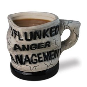 I Flunked Anger Management Coffee Mug. Unique coffee mug. at www.officeplayground.com use code P10 for 10% off