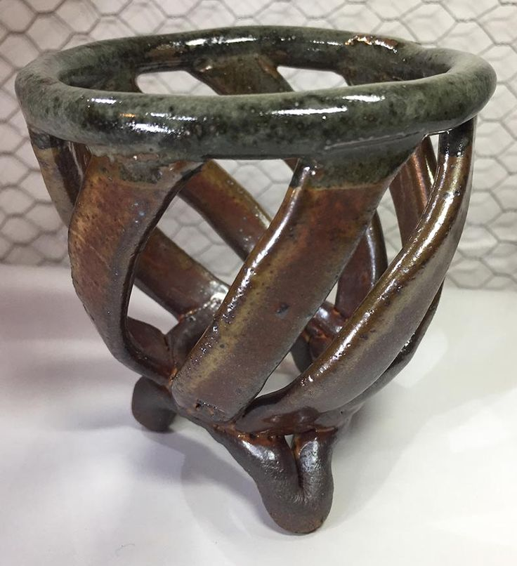 Rustic Neofinetia Falcata Mini Orchid Clay Planter Pot - Genie #31 by Lancys on Etsy