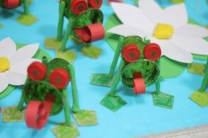 paper cup frog craft