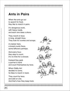 Ants in Pairs (Even and Odd Numbers): Math Poem | Ants ...