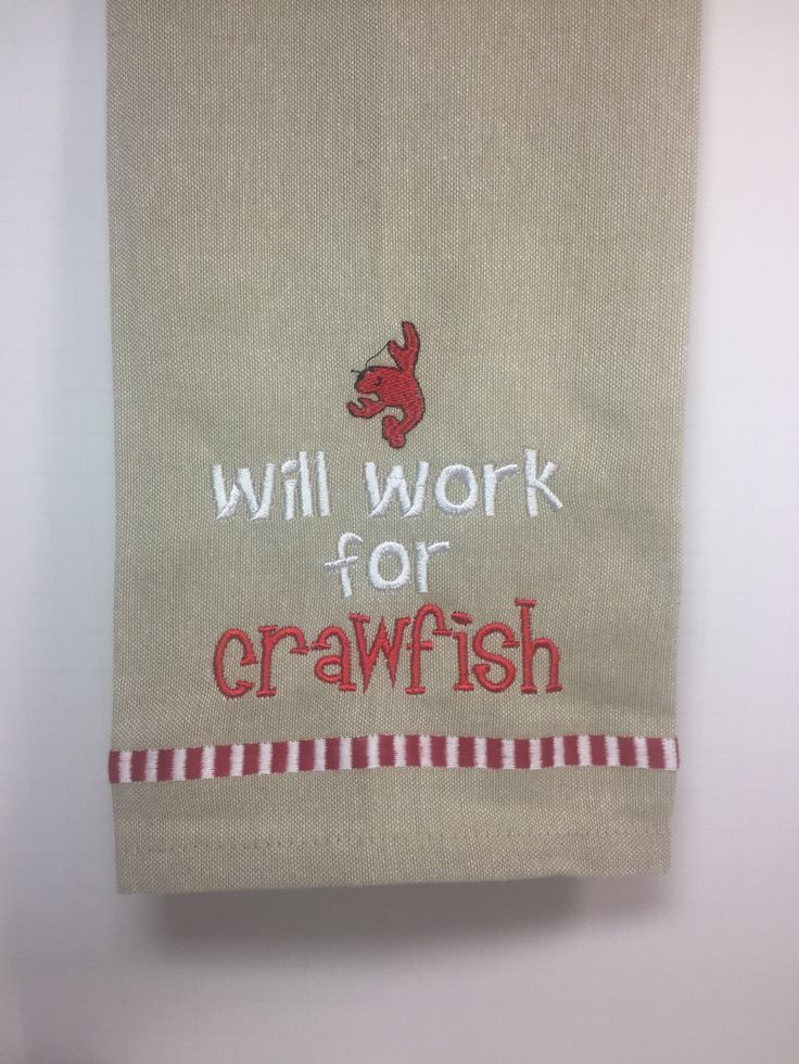 Crawfish season is right around the corner! These kitchen towels would be just perfect in a southern kitchen.