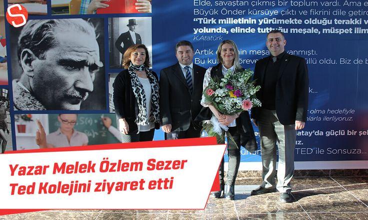 Yazar ve şair Melek Özlem Sezer, Hatay Ted kolejini ziyaret etti ve sunumlar gerçekleştirdi. #meleközlemsezer #tedkoleji #hatay