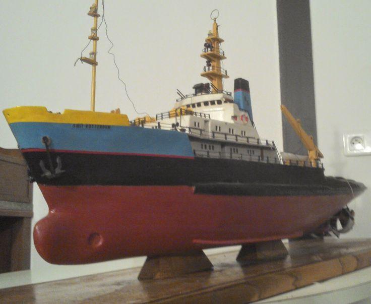 le vide grenier de didou ancienne maquette bois bateau navire remorqueur marine paquebot smit. Black Bedroom Furniture Sets. Home Design Ideas