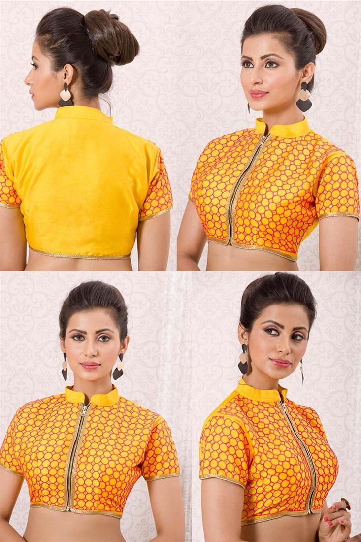 Beautiful Latest Unique Casual Wear Blouse Designs Images 2018