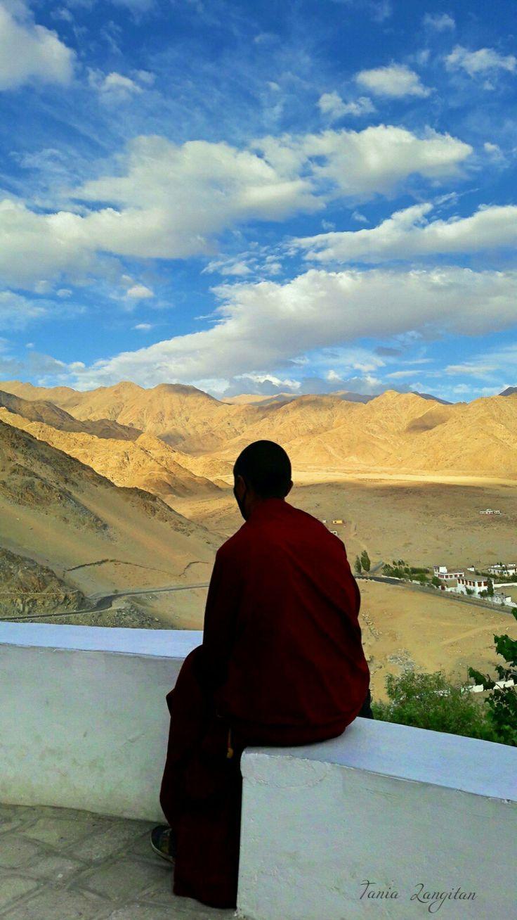 A monk in Thiksey Monastery, Leh - Ladakh