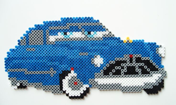 Cars Doc Hudson hama beads by Leo V.