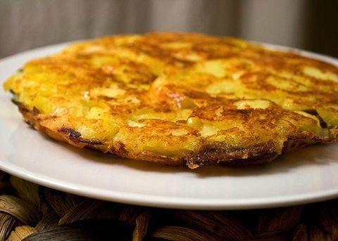 Frico con patate #recipe #cheese #potatoes #onion #yellow #food #good