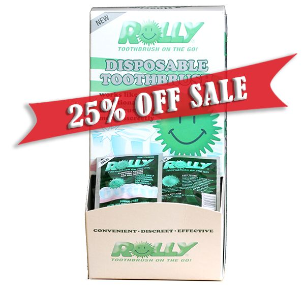 Sale! Rolly Brush Single Sachets - Box of 100