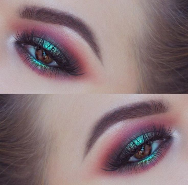 Lime crime venus palette + superfoil eyeshadow lawn teal green metallic + magenta smoky eye