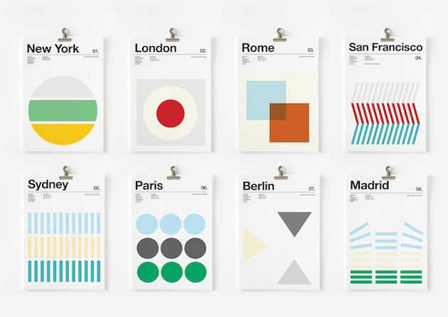 Three Colors Cities Posters
