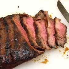 GRILLED LONDON BROIL.  I have experimented with several marinades for London Broil and this is what we love the best.  It seems like a lot of ingredients, but most of them you will already have.  Serve it with a nice green salad and some crusty bread. Or a baked potato if you really want to turn on your oven!!