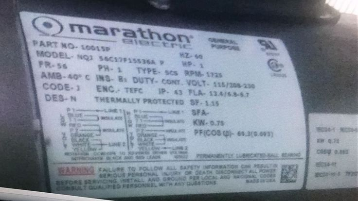 Marathon Electric 56C17F15536A motor