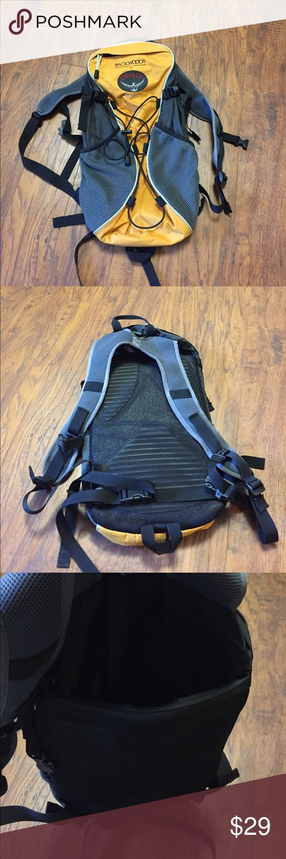 Osprey Daylite Hydration Backpack Backwoods Osprey Daylite hydration backpack (bladder not included).  This is from Backwoods and features custom Backwoods embroidery.  This pack is in good used condition and has a good capacity for hikes/runs/cycling. Osprey Bags Backpacks
