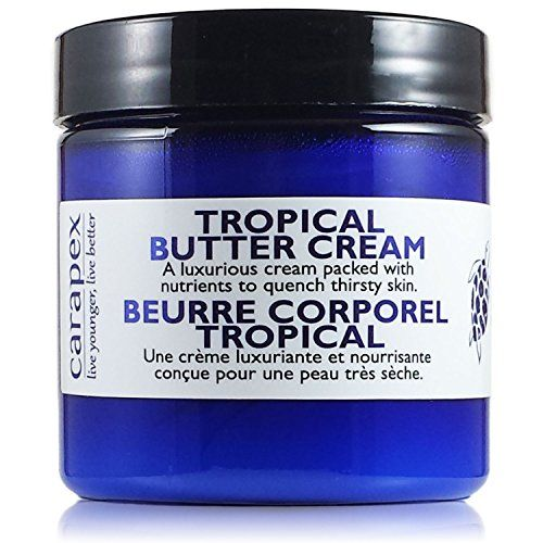 Carapex Tropical Butter Cream Non Greasy Hand Cream Body Cream for Cracked Hands Super Dry Skin with Natural Shea Butter Cocoa Butter Vitamin E Green Tea Extract Fragrance Free Paraben Free 4oz -- Want to know more, click on the image.