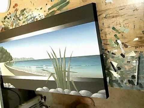 Time Lapse Acrylic Painting - Seascape Art More Art Videos At: http://ArtVideosDaily.com/?p=775