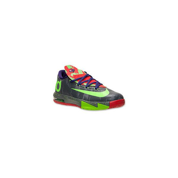 Boys' Grade School Nike KD VI Basketball Shoes ($100) ❤ liked on Polyvore featuring shoes and sneakers