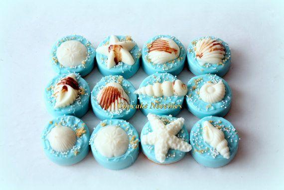 Under the Sea Birthday Baby Shower Bridal Shower Seashell Chocolate Covered Oreos Ocean Beach Wedding Mermaid Birthday Favors