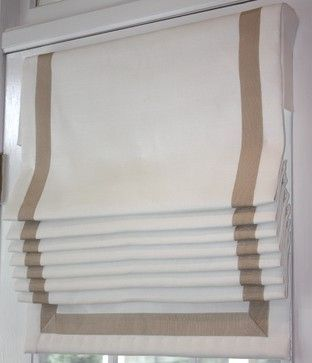 roman shades with banding - Google Search