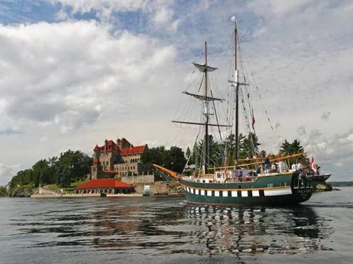 Singer Castle and pirate ship