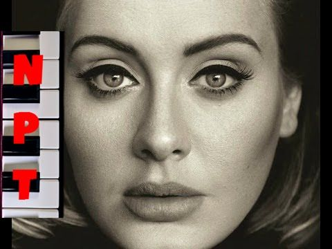 Adele - All I Ask Karaoke - Full Instrumental Backing Track - Piano Cover - YouTube