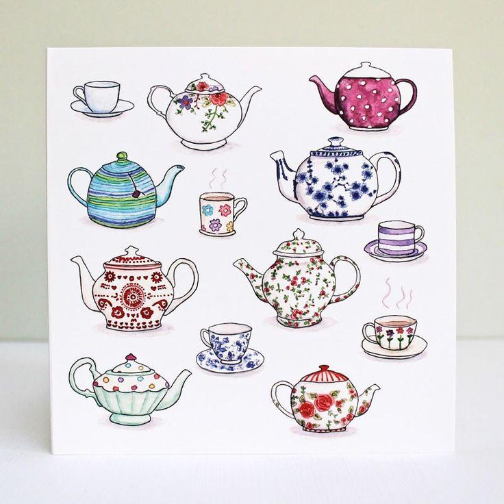 teacup tattoo outline - Sök på Google