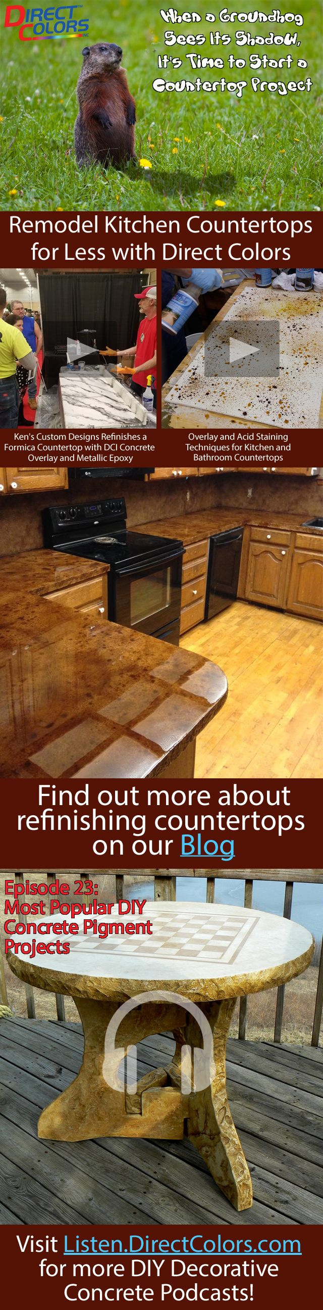 146 best Do It Yourself Concrete Countertops images on Pinterest ...