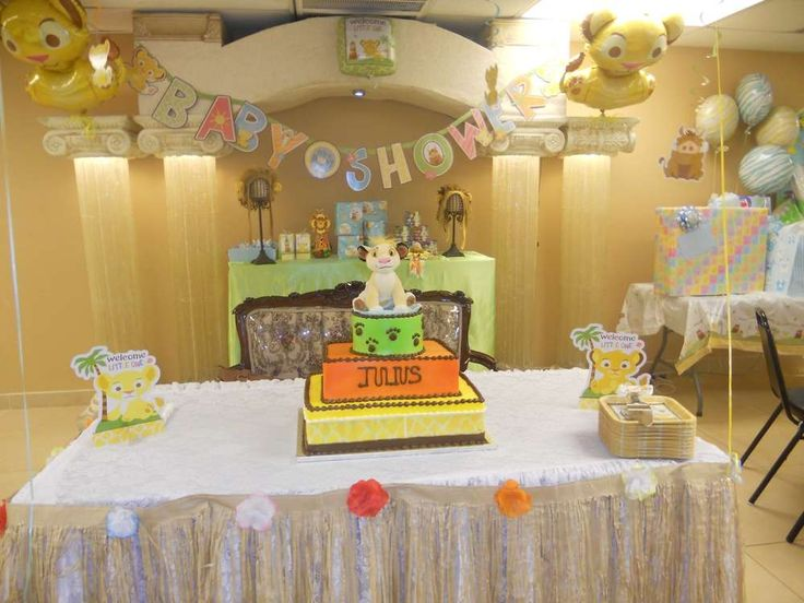 Lion/Lion King Baby Shower Baby Shower Party Ideas