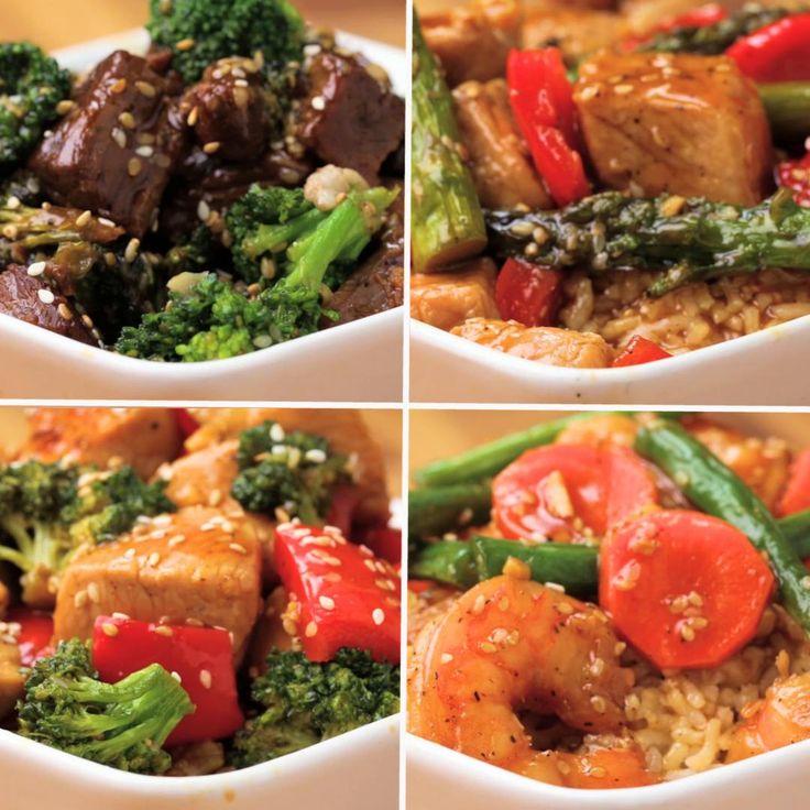 One-Pan Stir-Fry 4 Ways by Tasty