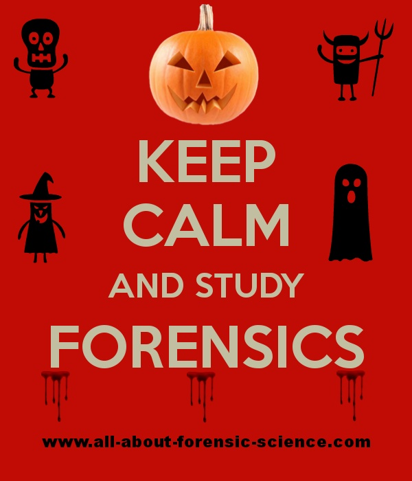 Repin to wish someone a Happy Halloween forensic science style!